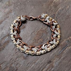 Rhinestone Chain Rope Wrap Bracelet